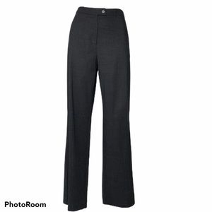 J. Crew Virgin Wool Charcoal Gray Stretch Trousers